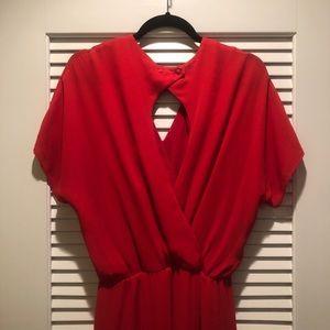 Red giani bini dress
